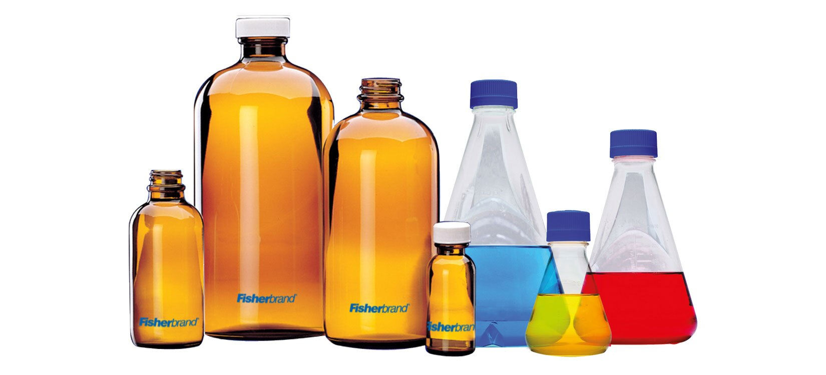 Glass and plastic ware bottles - Fisherbrand